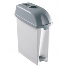 Контейнер для мусора полипропиленовый с педалью, объем 17 л.
