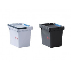 Ведро 4,5 л 24x18x21 см для Ориго 2 с 1 синей клипсой цветового кодирования,черное Vileda Professional