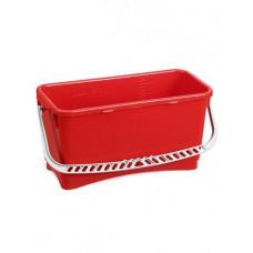 Ведро пластиковое для замачивания мопов 20л.  красное, ударопрочное
