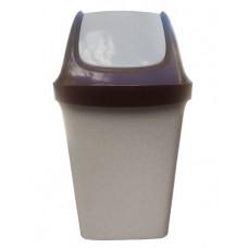 Ведро пластиковое с плавающей крышкой 25л. цвет бежевый