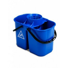 Ведро пластиковое двойное 15л ACG с решеткой-отжимом для резьбовых мопов, ударопрочное
