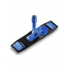 Держатель (флаундер) универсальный, с педалью и зажимами для Мопа 50х13см. (черный/синий)