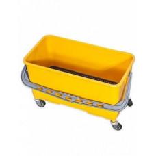 Ведро пластиковое на колесах для мытья окон 22л. с решеткой