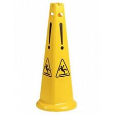 """Знак """"Осторожно мокрый пол"""" пирамидальный с рисунками"""